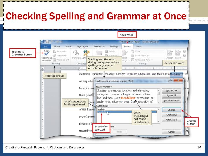 Checking Spelling and Grammar at Once