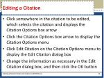 editing a citation
