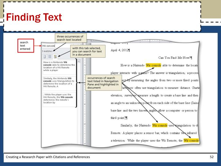 Finding Text