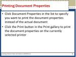 printing document properties1