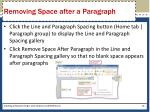 removing space after a paragraph