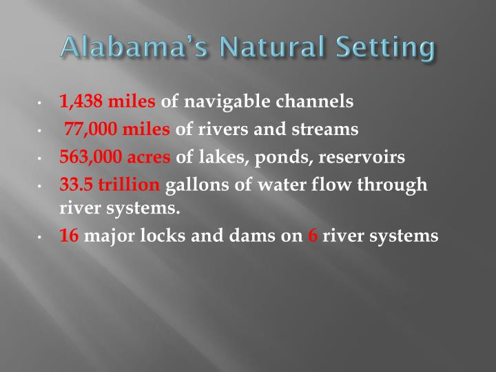 Alabama's Natural Setting