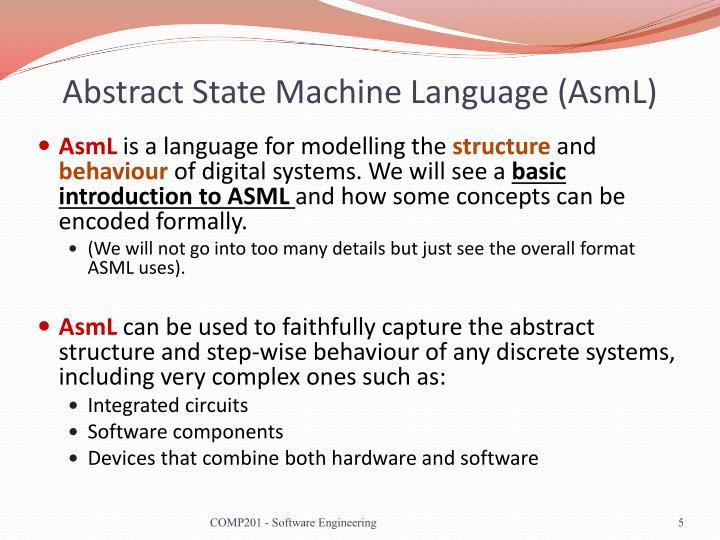 Abstract State Machine Language (