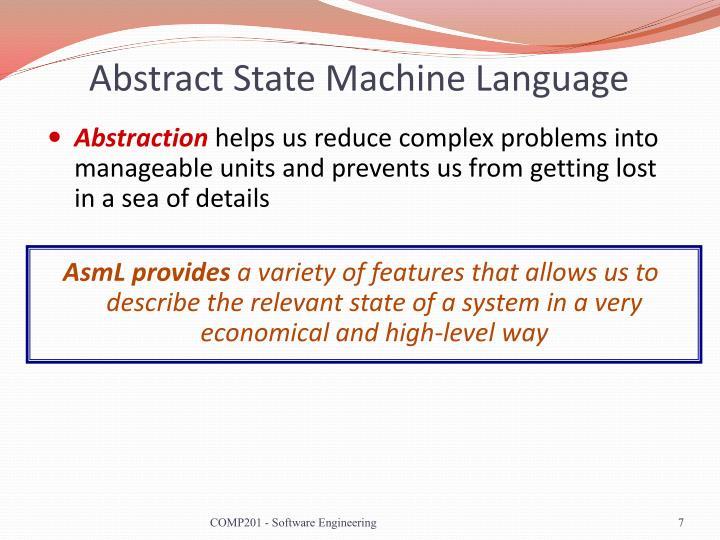 Abstract State Machine Language