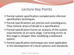 lecture key points