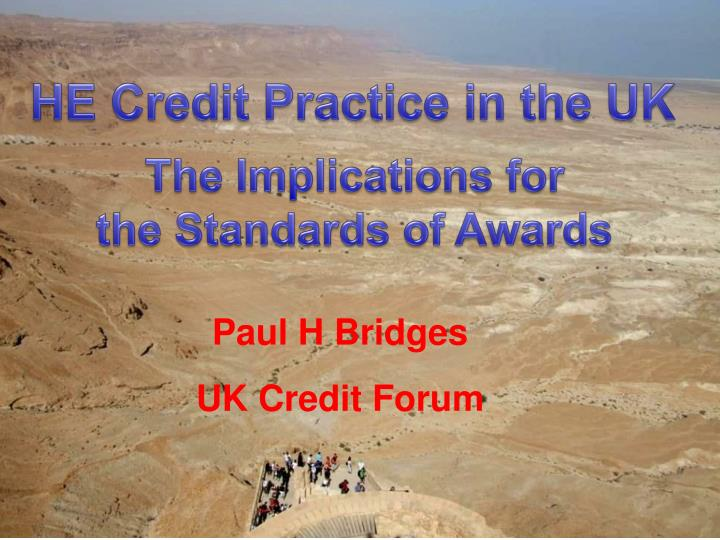 paul h bridges uk credit forum