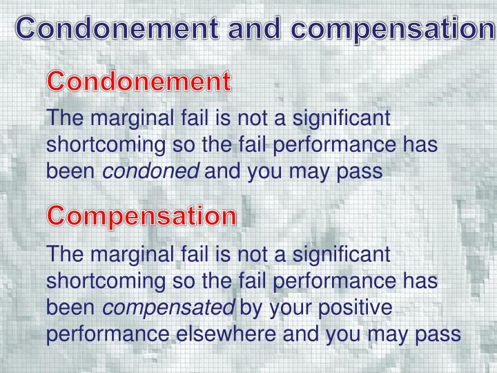 Condonement and compensation