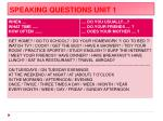 speaking questions unit 11