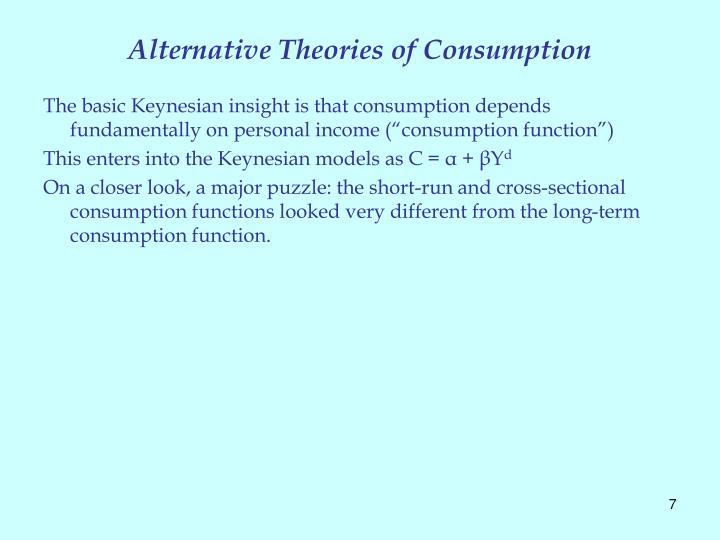 Alternative Theories of Consumption