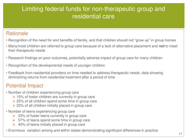 Limiting federal funds for