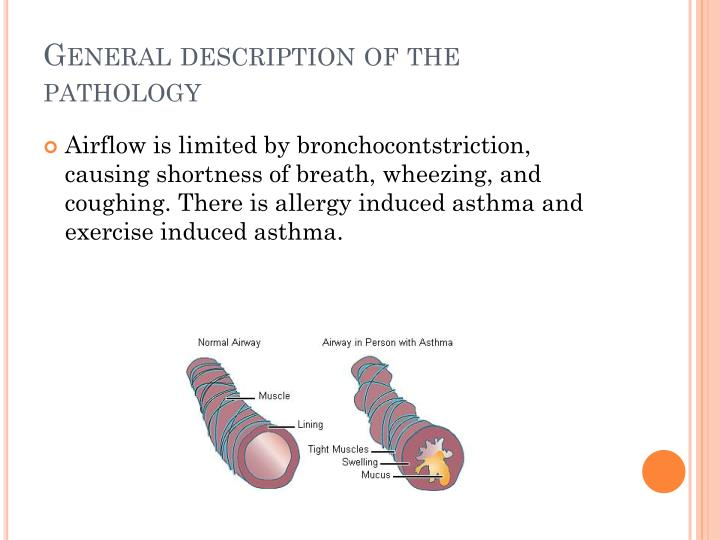 General description of the pathology