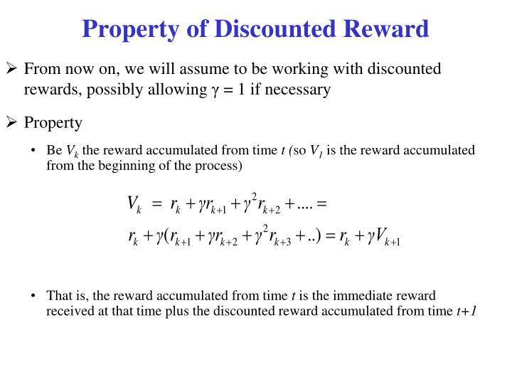 Property of Discounted Reward