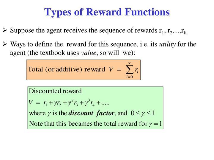 Types of Reward Functions