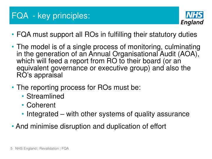 FQA  - key principles: