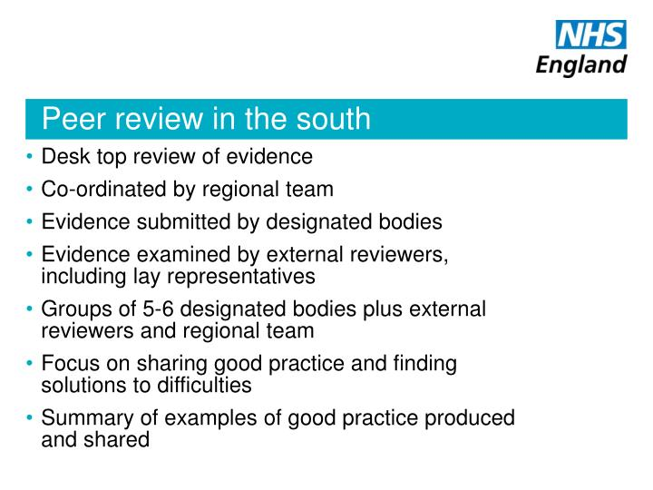 Peer review in the south