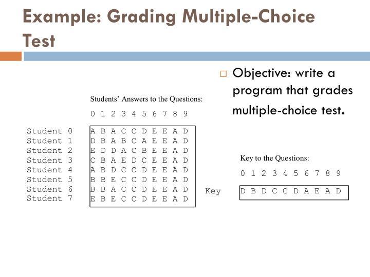 Example: Grading Multiple-Choice Test