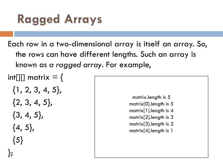 Ragged Arrays