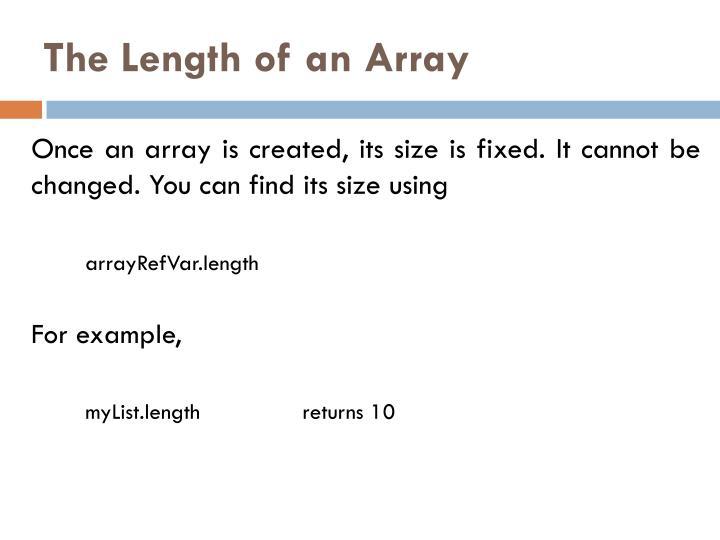 The Length of an Array