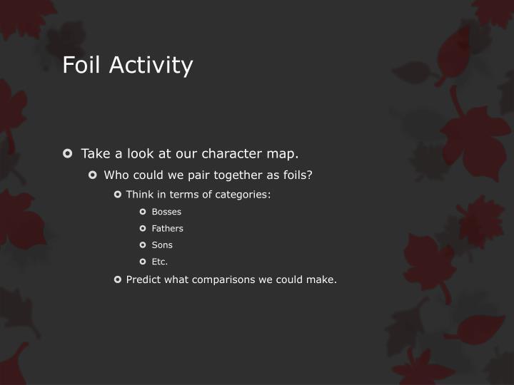 Foil Activity