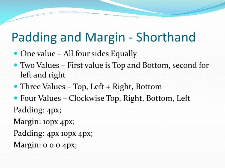 Padding and Margin - Shorthand