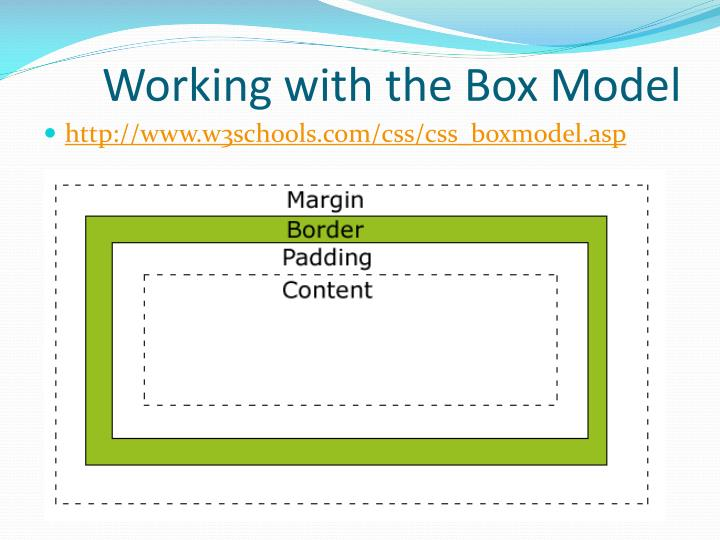 Working with the Box Model