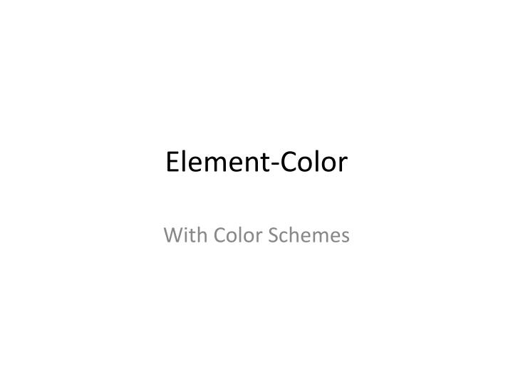 element color