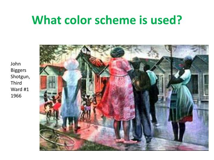 What color scheme is used?