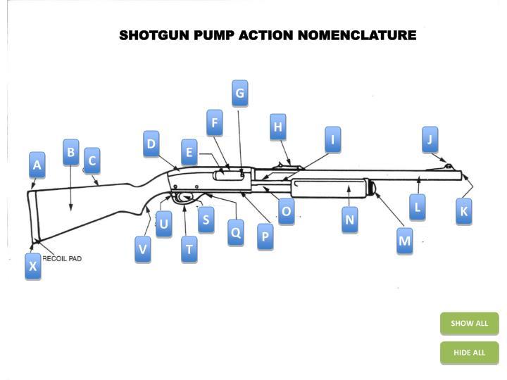 SHOTGUN PUMP ACTION NOMENCLATURE