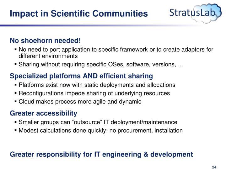 Impact in Scientific Communities