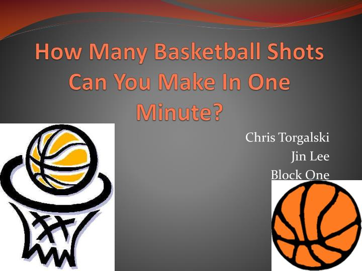how many basketball shots can you make in one minute