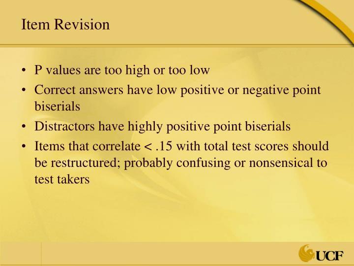 Item Revision