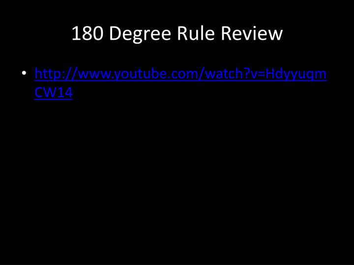 180 degree rule review