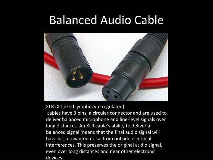 Balanced Audio Cable