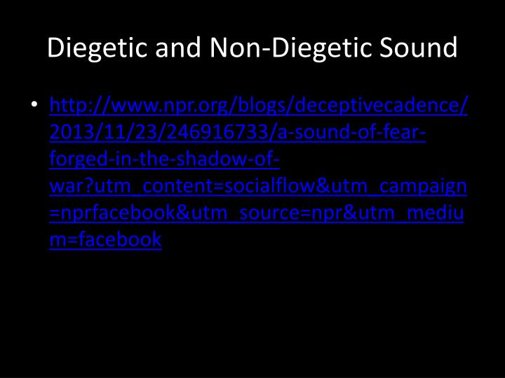 Diegetic and Non-Diegetic Sound