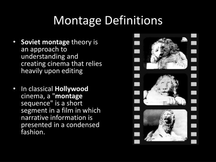 Montage definitions