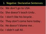 1 negative declarative sentences1