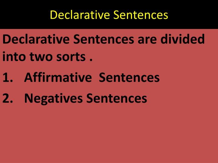 Declarative Sentences