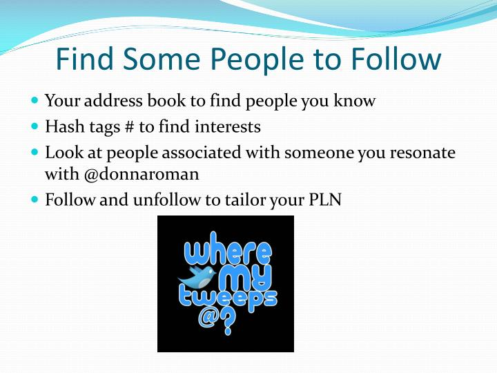 Find Some People to Follow