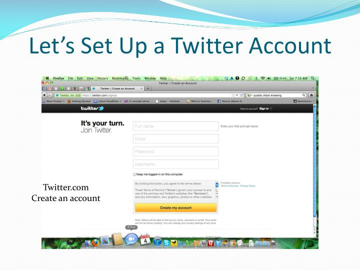 Let's Set Up a Twitter Account