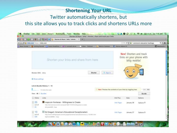 Shortening Your URL