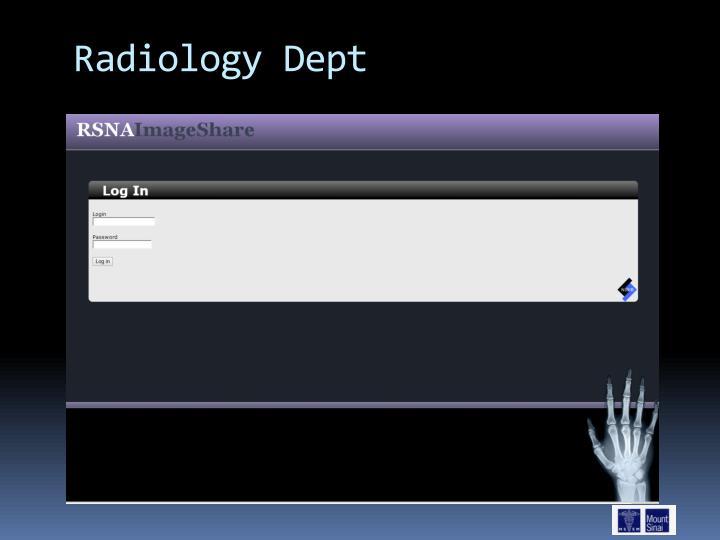 Radiology Dept