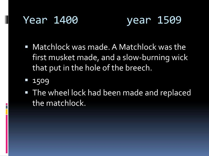 Year 1400        year 1509