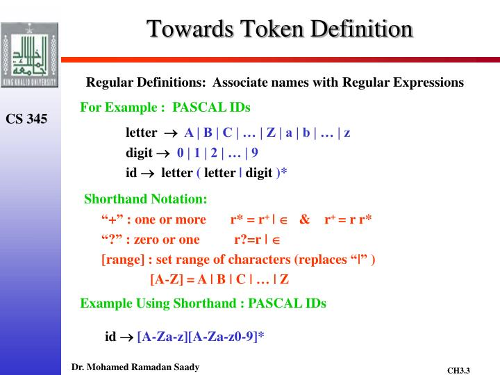 Towards Token Definition
