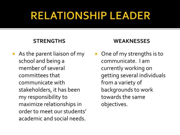 RELATIONSHIP LEADER