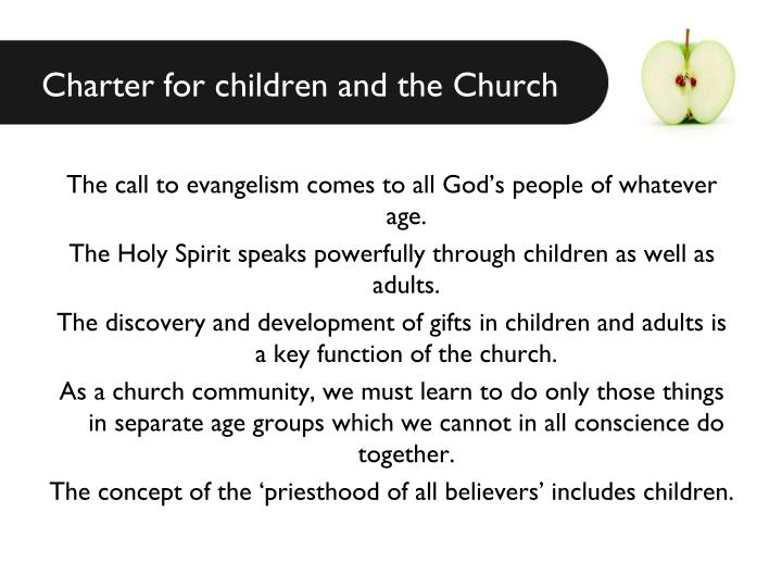Charter for children and the Church