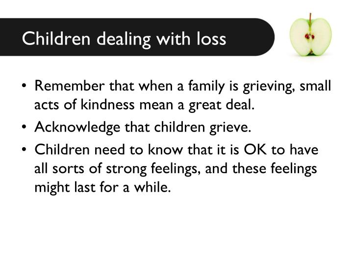 Children dealing with loss