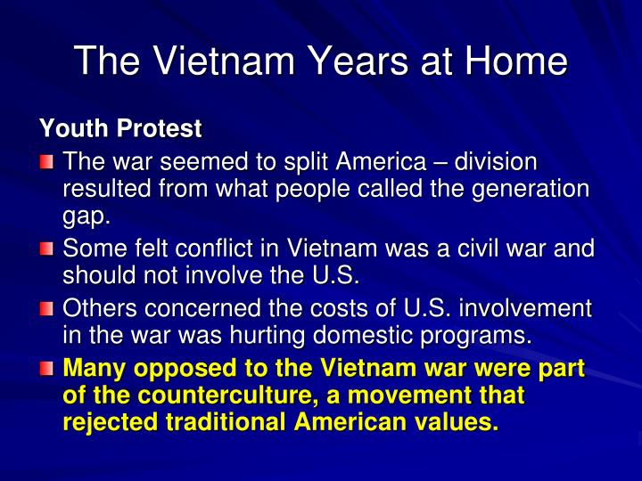 The Vietnam Years at Home