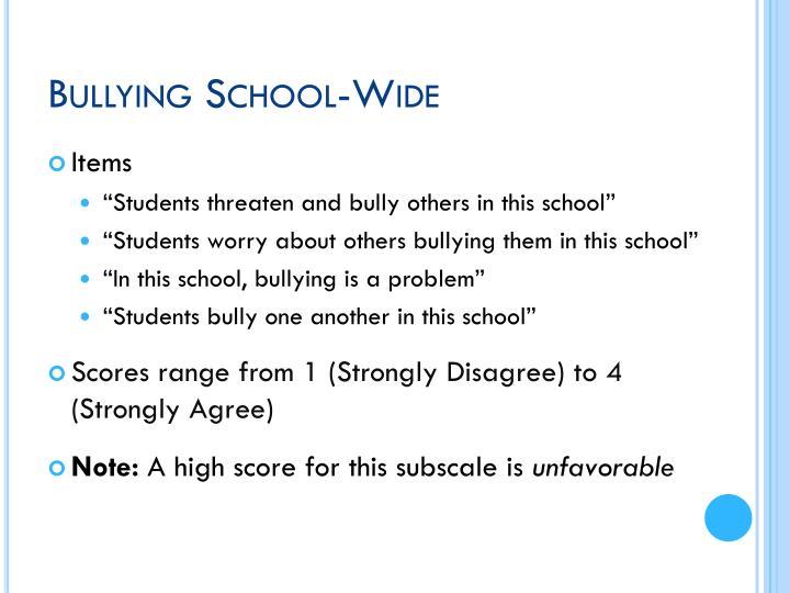 Bullying School-Wide