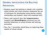 general implications for bullying prevention