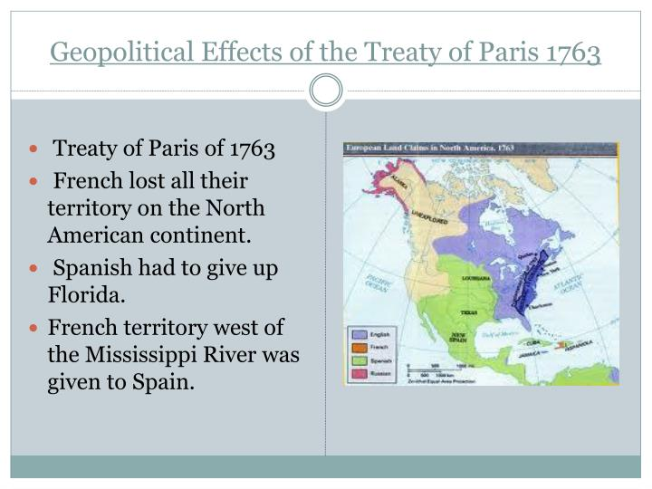 Geopolitical Effects of the Treaty of Paris 1763